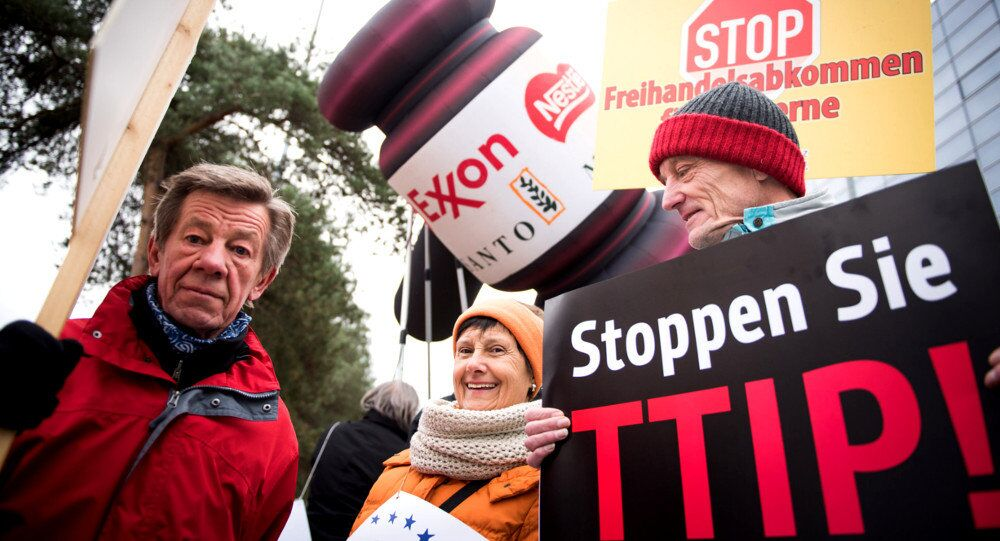 Anti-TTIP protesters in Germany