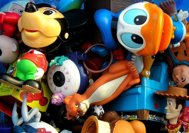 A box of toys