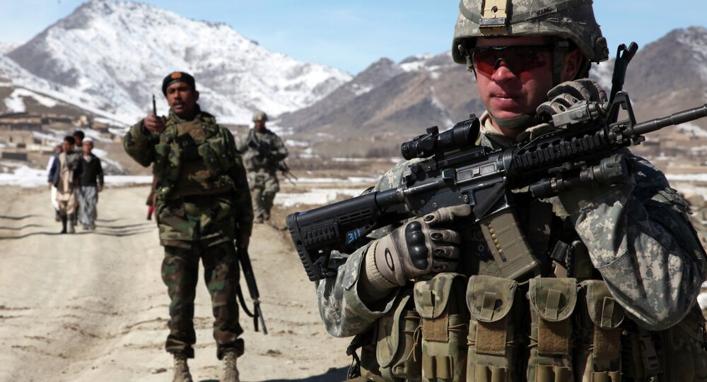 US and Afghan troops check on town of Yawez.