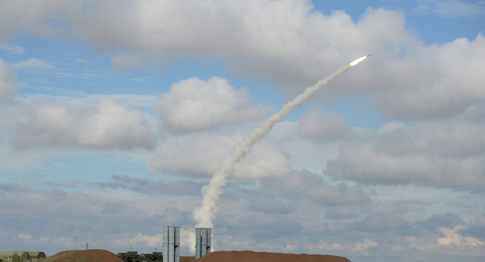 The S-300 missile launch