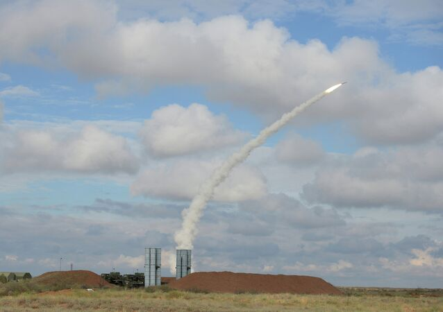 A S-300 missile launch.