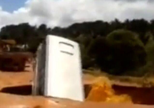Sinkhole Swallows Bus in Brazil