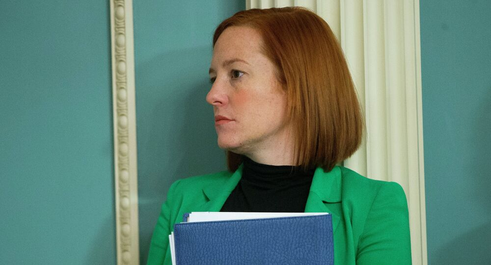 State Department spokeswoman Jen Psaki