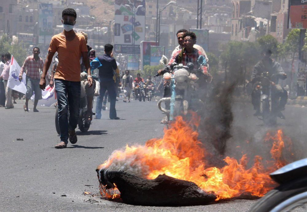 Yemeni Capital Sanaa After Airstrikes