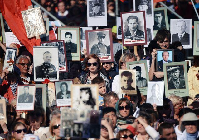 Immortal Regiment march in Russia