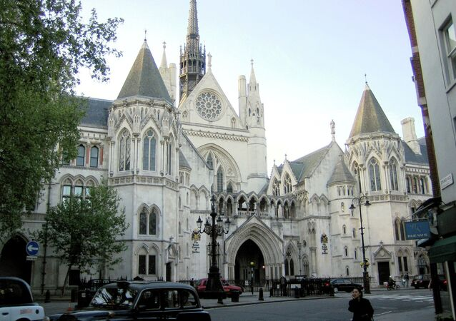 UK Royal Courts of Justice on G.E. Street, The Strand, London.