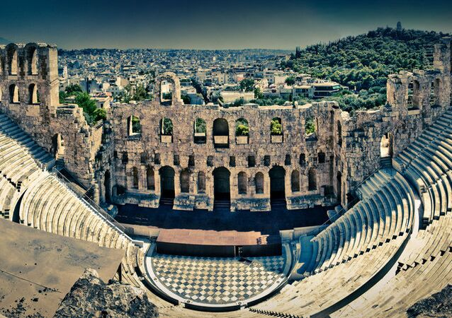 The Odeon of Herodes Atticus, Athens, Greece