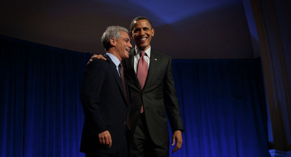 "Early in 2014, Emanuel announced the city would build a new selective-enrollment high school in the North Side of Chicago and name it ""Barack Obama College Preparatory High School,"" to honor the first African American US president. He abandoned the plan in Sept. 2014."