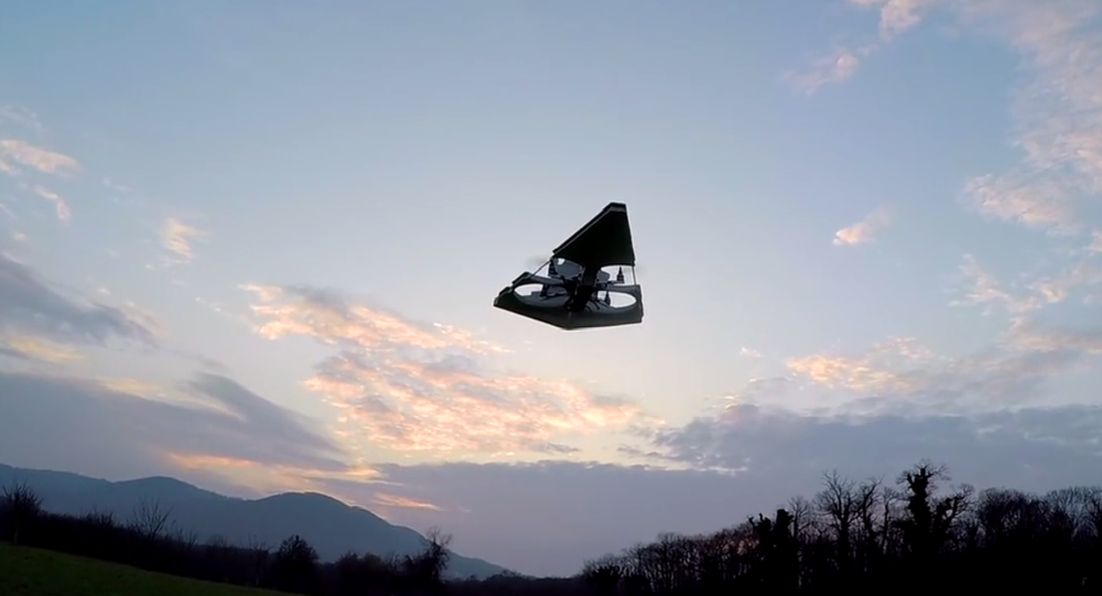 Here he comes with his latest creation, the Imperial Star Destroyer Drone.