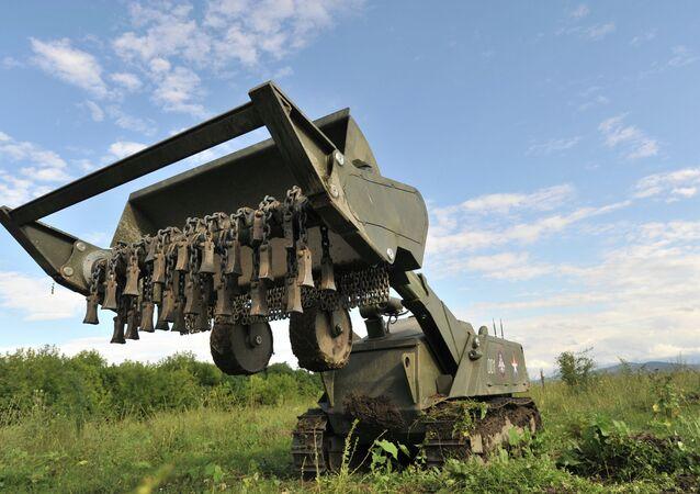 Multifunctional robotic Uranium-6 demining system