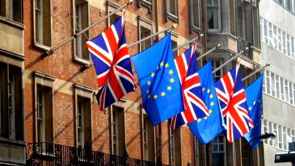 UK, EU flags - Sputnik International