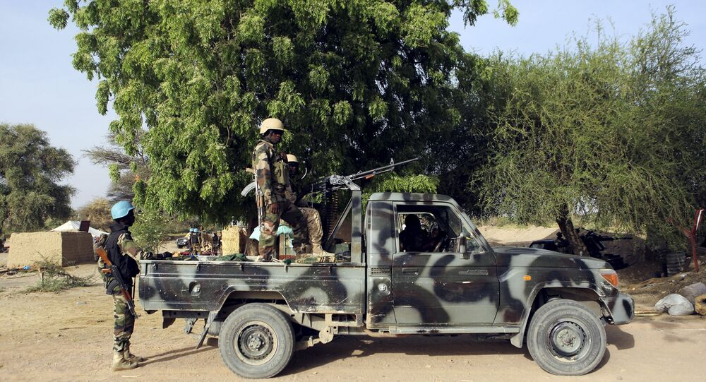 Nigerien soldiers hold positions at the border with Nigeria in Diffa, Niger