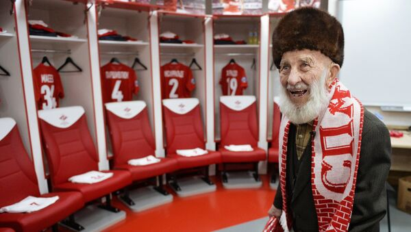 FC Spartak Moscow's oldest fan Otto Fisher - Sputnik International