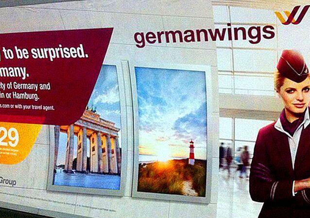 Germanwings advert in the London metro