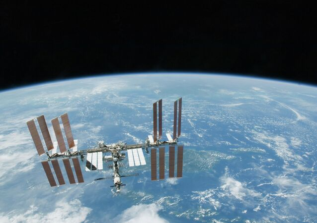 This 2010 file photo provided by NASA shows the International Space Station with Earth's horizon as a backdrop.