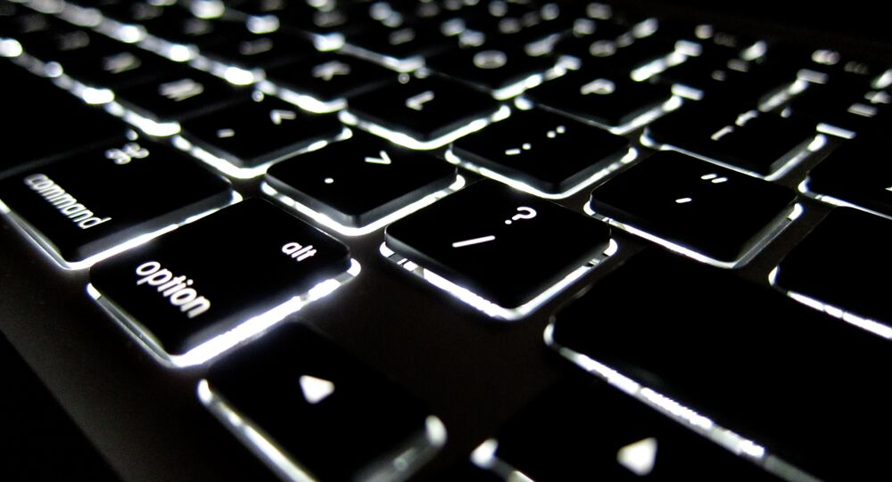 Lighted Apple keyboard
