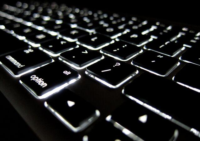 Lighted Apple keyboard