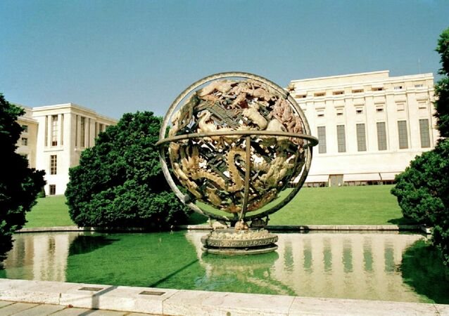Exterior View of the United Nations Office at Geneva (UNOG)
