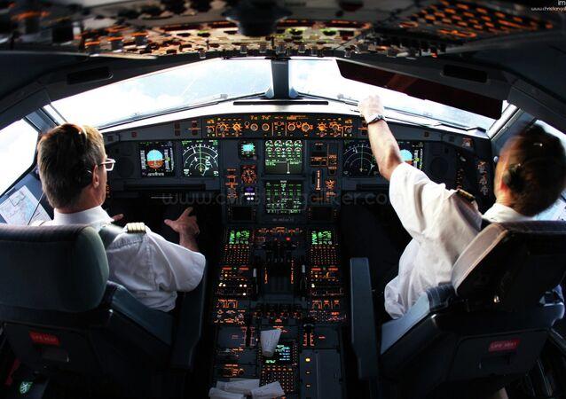 A340 Cockpit Miami