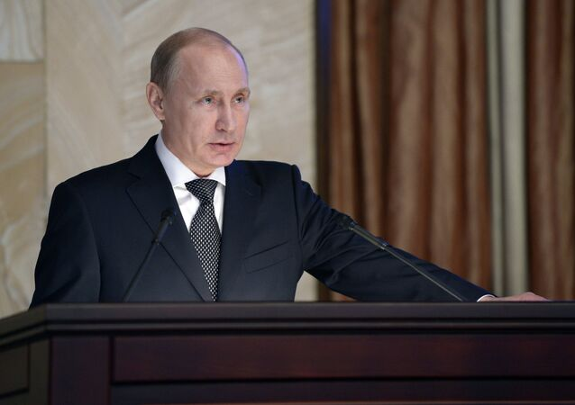 Russian President Vladimir Putin addresses meeting of Federal Security Service board