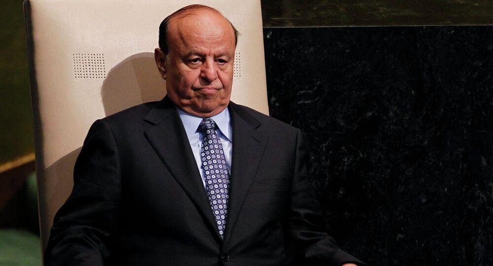 Ousted President of Yemen Abd Rabbuh Mansur Hadi