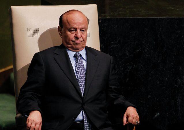 Yemeni President Abd Rabbuh Mansur Hadi