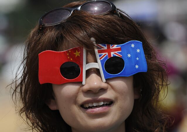 A visitor is seen at the Australia pavillion on the second day of the World Expo 2010 in Shanghai