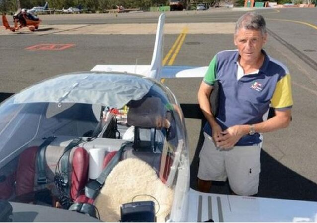 62-year-old global traveling Swiss aviator Eric Guilloud