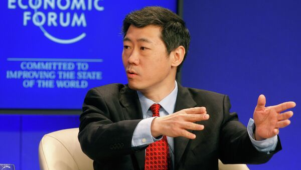 Director General for China in the World Economy, Li Daokui speaks during a session at the World Economic Forum in Davos, Switzerland on Saturday, Jan. 29, 2011 - Sputnik International