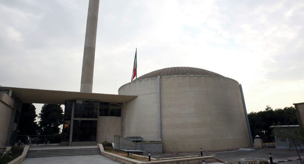 A nuclear research reactor at the headquarters of the Atomic Energy Organization of Iran, in Tehran