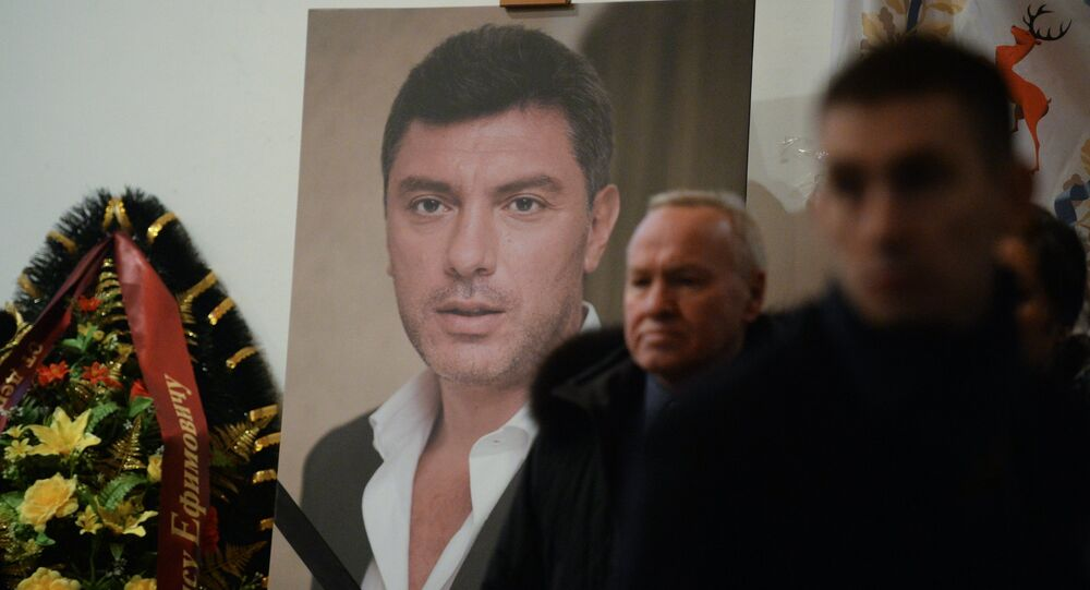 Paying last respects to politician Boris Nemtsov in Moscow.