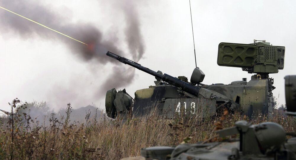 Tunguska self-propelled anti aircraft system