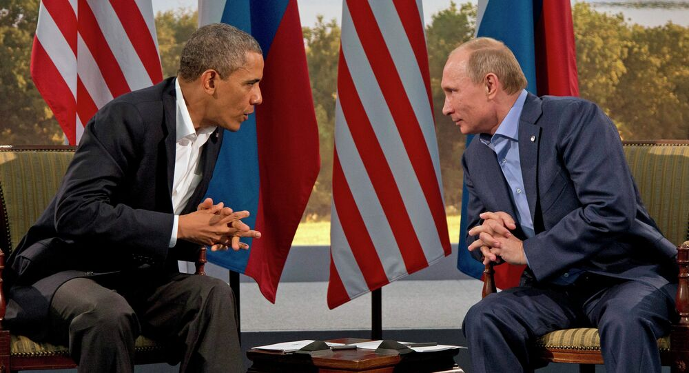 File Photo: President Vladimir Putin meets with President Barack Obama in Enniskillen, Northern Ireland