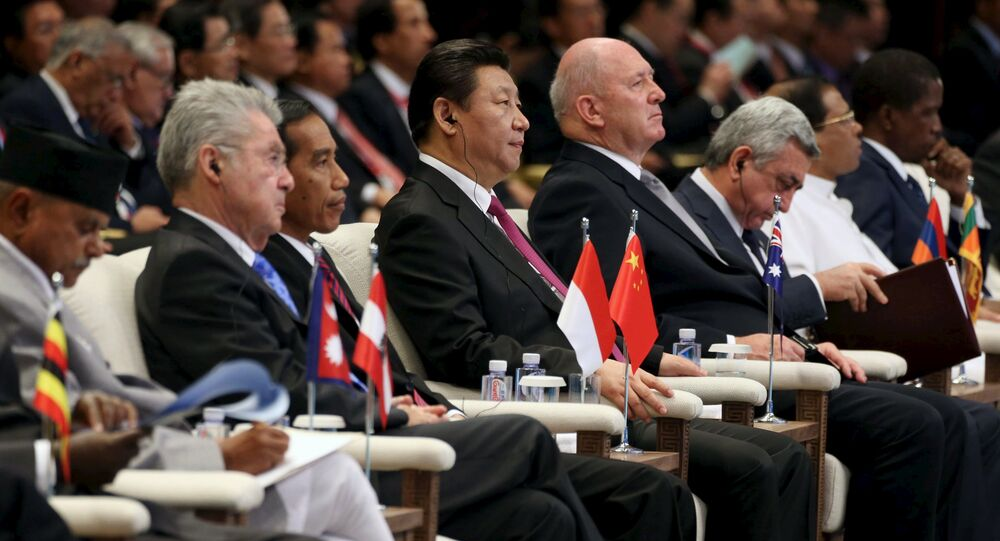 Chinese President Xi Jinping (C) attends the opening ceremony of the Boao forum, in Boao, Hainan province, March 28, 2015.