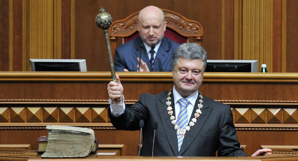 Petro Poroshenko inaugurated as President of Ukraine, May 2014.