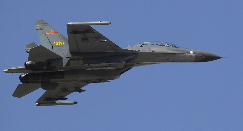 Chinese Military Fighter Jet Su-27 Flanker