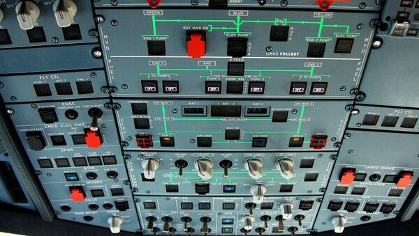 An overhead panel in a Germanwings Airbus - Sputnik International