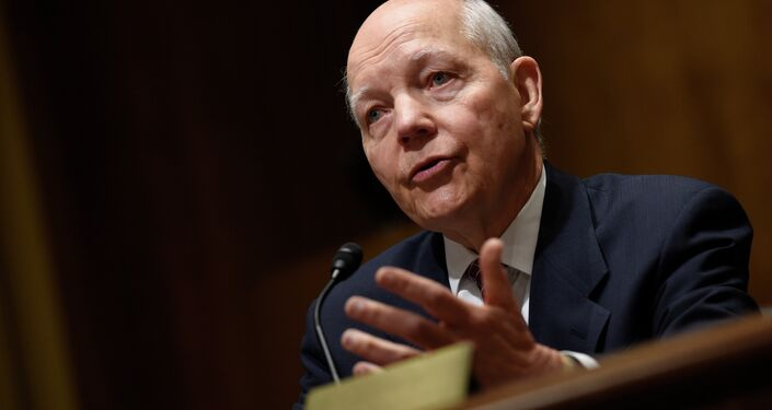 Internal Revenue Service Commissioner John Koskinen testifies on Capitol Hill in Washington, Tuesday, Feb. 3, 2015, before the Senate Finance Committee during a hearing to examine the Internal Revenue Service Operations and the President's proposed budget request for fiscal year 2016.