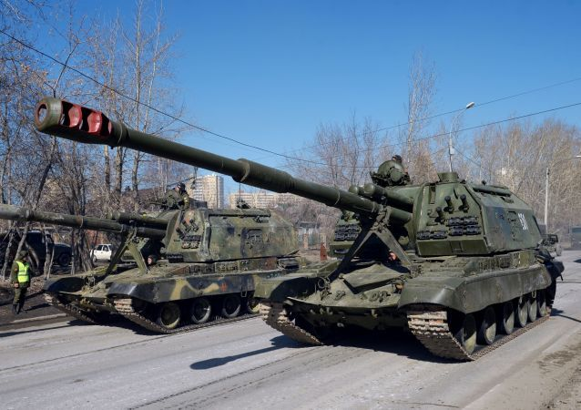 Tor-M2U missile systems during the first rehearsal of the Victory Parade in Yekaterinburg.