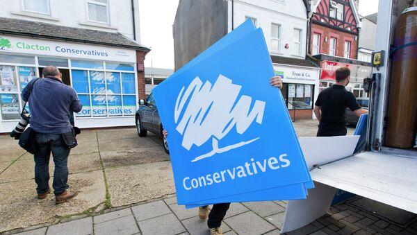 UK Conservative Party placards - Sputnik International