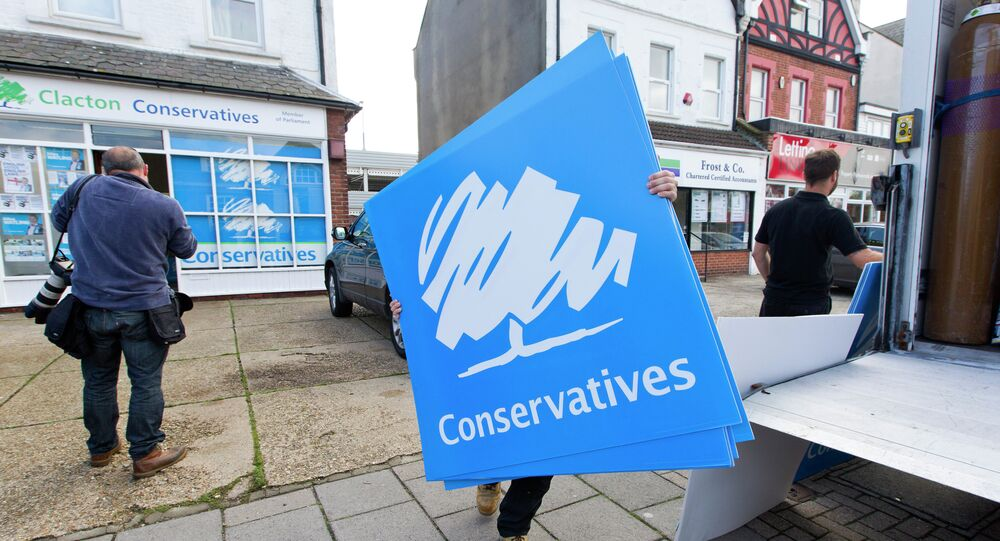 UK Conservative Party placards