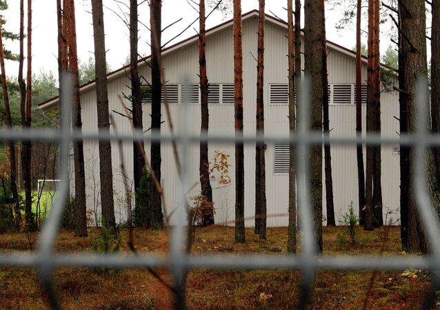 A building in the Antaviliai, Lithuania, 20 kilometers (12 miles) outside Vilnius which allegedly housed a CIA prison.