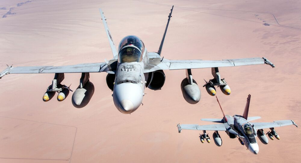 F-18 Hornet fighters