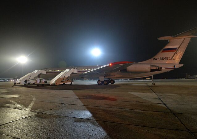 Russian plane with Russians evacuated from Yemen at the Chkalovsky Airport