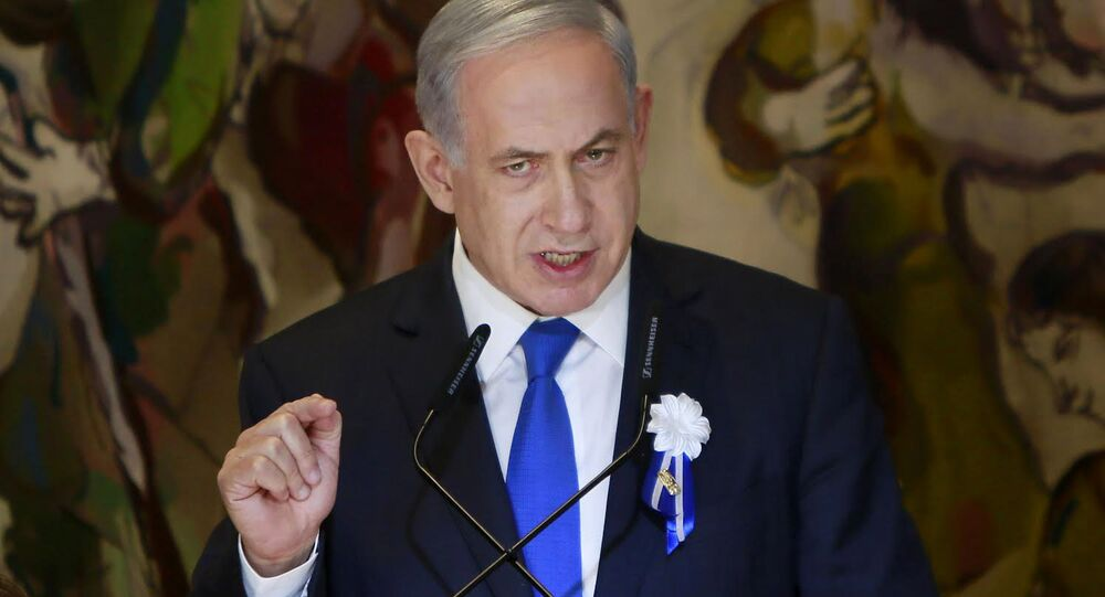 Israeli Prime Minister Benjamin Netanyahu voiced  strong opposition to the international agreement on Iran's nuclear development program drafted Thursday.