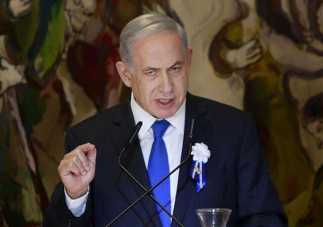 Israeli Prime Minister Benjamin Netanyahu voiced  strong opposition to the international agreement on Iran's nuclear development program.