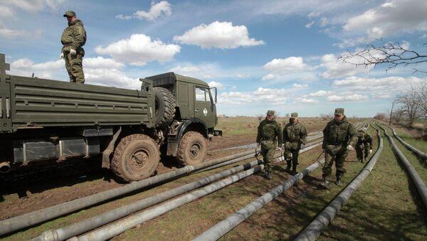 Water supply piping laid in Crimea - Sputnik International