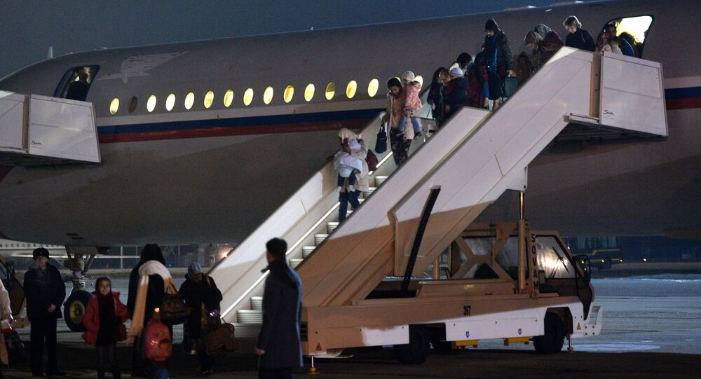 Russians evacuated from Yemen land in Moscow Region