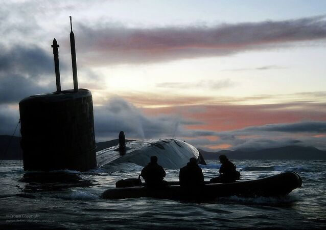 Royal Navy Submarine HMS Talent Conducts Surfacing Drills in Scotland. Archive photo.