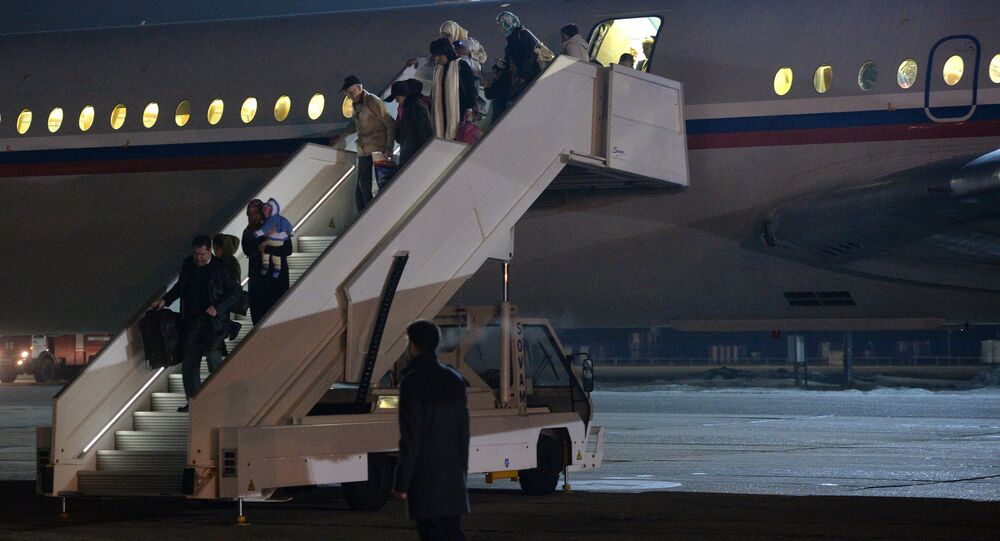 People evacuated from Yemen land in Moscow Region